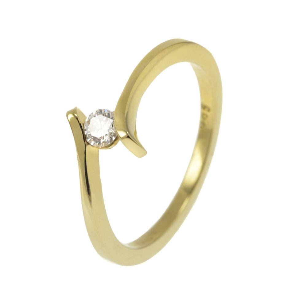14K Arany Gyűrű BRILLEL (Au28166) Méret: 51