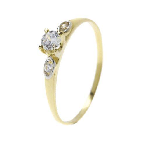 Fátyolvirág modell - 14K arany Gyűrű (Au54030) - méret: 53