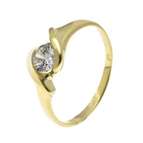 Frézia modell - 14K arany Gyűrű (Au54641) - méret: 51