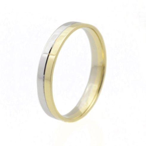 Szivárvány modell - 14K arany Karikagyűrű (Au51675) - méret: 69