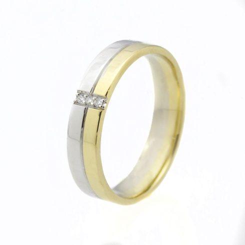 Szivárvány modell - 14K arany Karikagyűrű (Au550003) - méret: 52