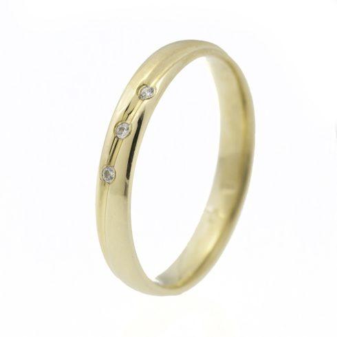Varázslatos Szépség modell - 14K arany Karikagyűrű (Au545005) - méret: 56