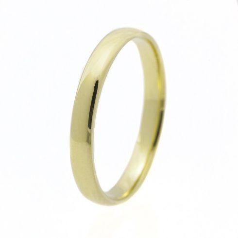 Klasszikus 3 mm modell - 14K arany Karikagyűrű (Au568025) - méret:70