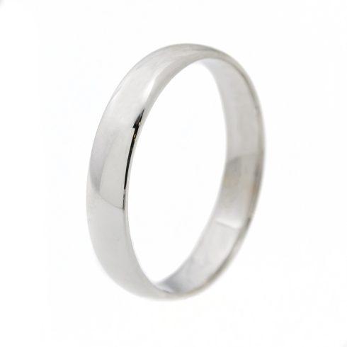 Klasszikus 4 mm fehér modell - 14K arany kő nélküli karikagyűrű