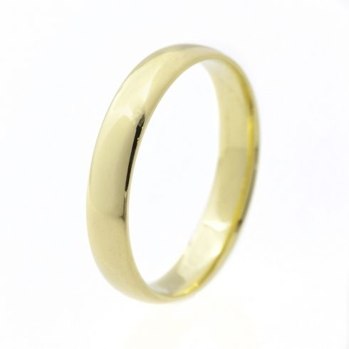 Klasszikus 4 mm modell - 14K arany Karikagyűrű (Au500029) - méret: 52