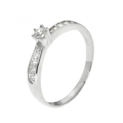 Írisz modell - 9K arany Gyűrű (Au61280) - méret: 53