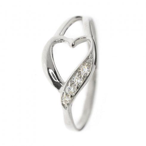 Szívvirág modell - 14K arany Gyűrű (Au59400) - méret: 64,5