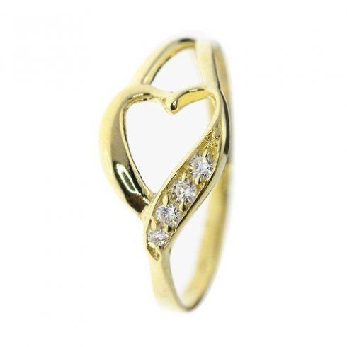 Szívvirág modell - 9K arany Gyűrű (Au466144) - méret: 50