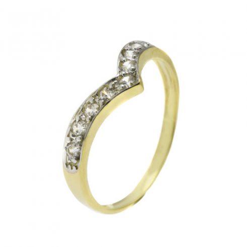 Lótuszvirág modell - 14K arany Gyűrű (Au442066) - méret: 51