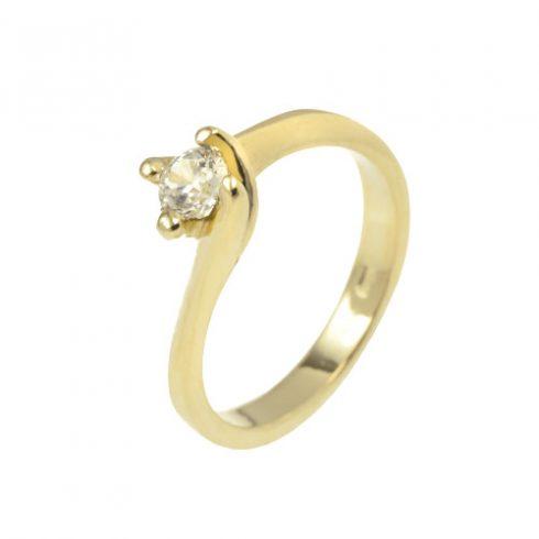 Tulipán modell - 9K arany Gyűrű (Au52403) - méret: 50