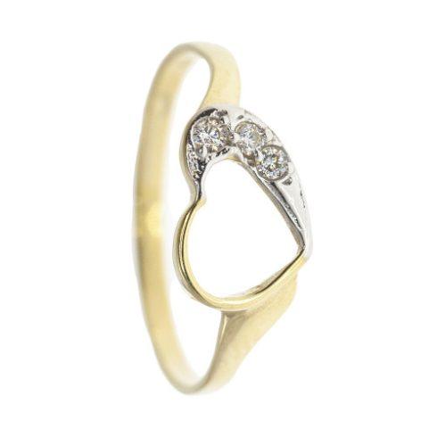 Valentin modell - 9K arany Gyűrű (Au466074) - méret: 52
