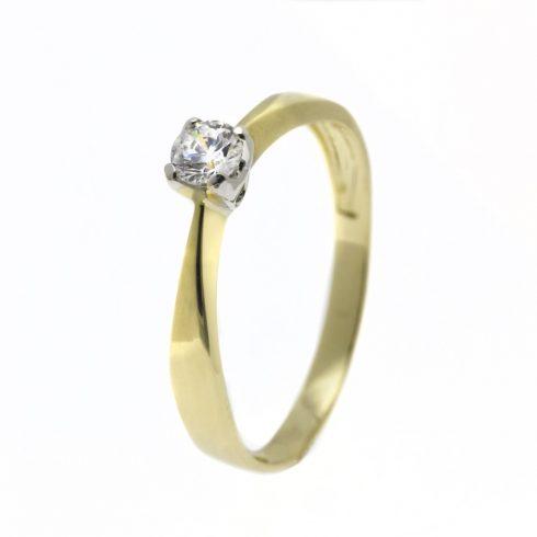 Estike modell - 9K arany Gyűrű (Au466104) - méret: 51