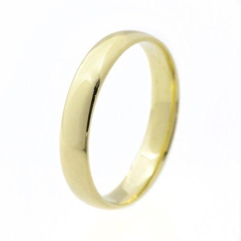 Klasszikus 4 mm modell - 9K arany Karikagyűrű (Au60711) - méret: 47