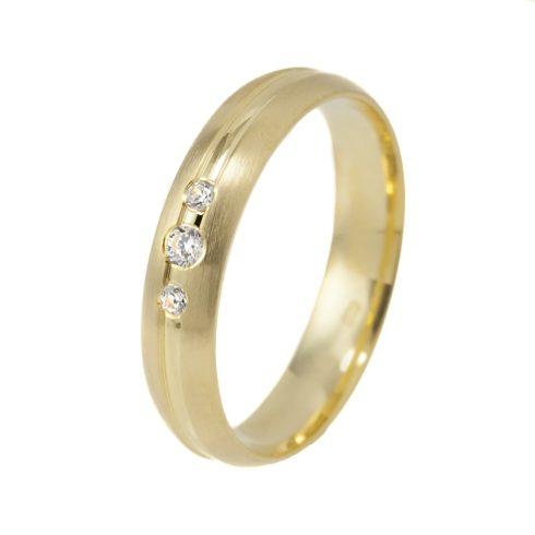 Tökéletes Harmónia modell - 9K arany Karikagyűrű (Au56185) - méret: 48