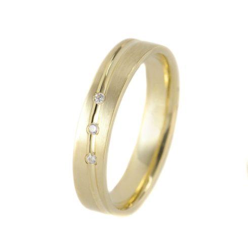 Végtelen Szerelem modell - 9K arany Karikagyűrű (Au462101) - méret: 56