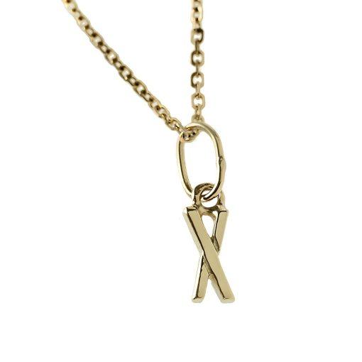 Arany X-betűs medál (Au392070)