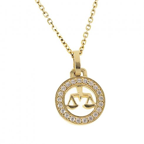 14K Arany Medál (Au432062) Horoszkóp: Mérleg