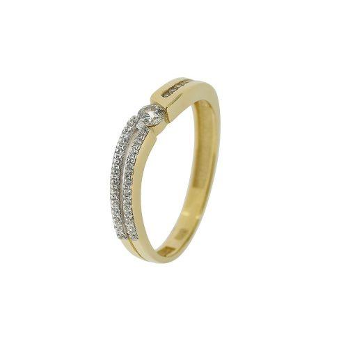 14K Arany Gyűrű (Au433027) Méret: 54