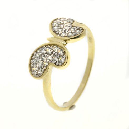 14K Arany Gyűrű (Au51117) Méret: 53