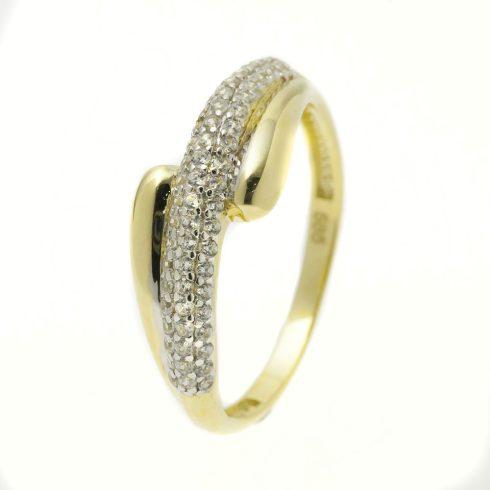 14K Arany Gyűrű (Au51119) Méret: 53