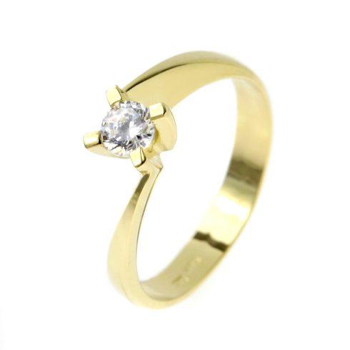 14K Arany Gyűrű (Au53685) Méret: 53