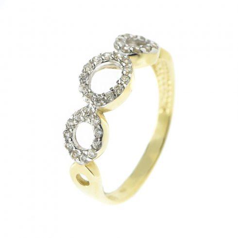 14K Arany Gyűrű (Au54052) Méret: 56,5