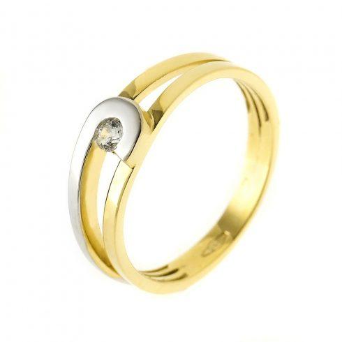 14K Arany Gyűrű (Au54533) Méret: 51