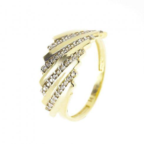 14K Arany Gyűrű (Au54670) Méret: 54,5