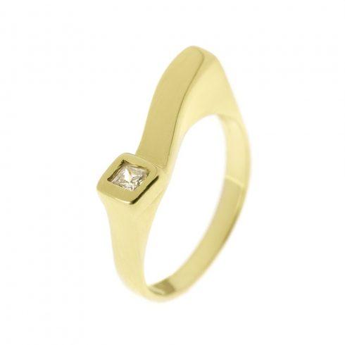14K Arany Gyűrű (Au55267) Méret: 55