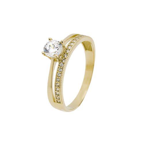 14K Arany Gyűrű (Au553041) Méret: 52