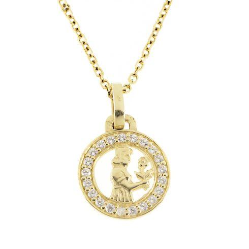 14K Arany Medál (Au56092) Horoszkóp: Szűz