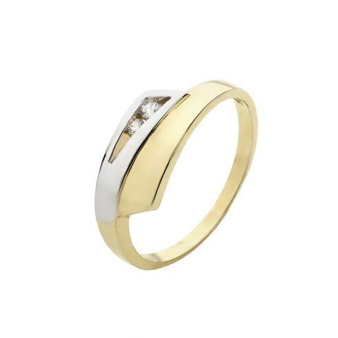 14K Arany Gyűrű (Au51015) Méret: 56