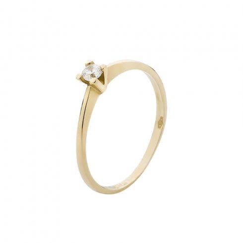 14K Arany Gyűrű (Au51022) Méret: 52