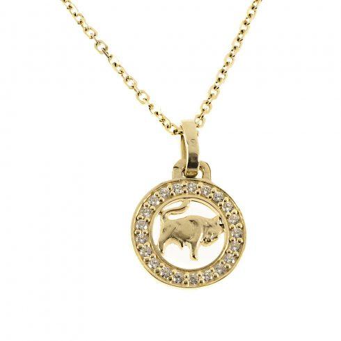14K Arany Medál (Au56103) Horoszkóp: Bika