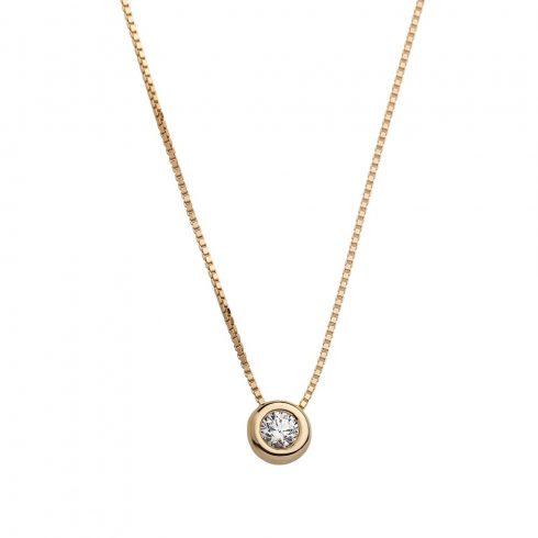 14K Arany Lánc Medállal (Au561040) Méret: 45 cm