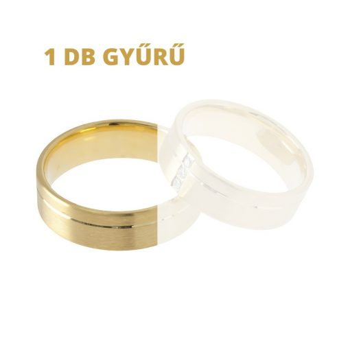 1db arany karikagyűrű (Au574097) Méret: 67