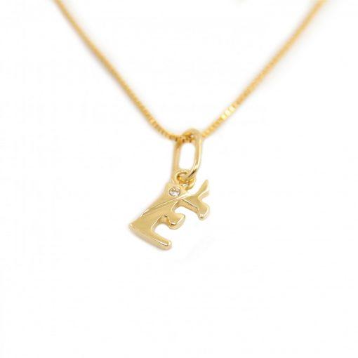 Arany É-betűs medál (Au586036)