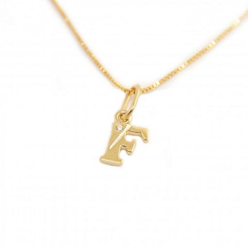 Arany F-betűs medál (Au586039)