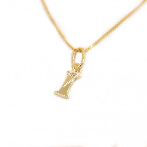 Arany I-betűs medál (Au586052)