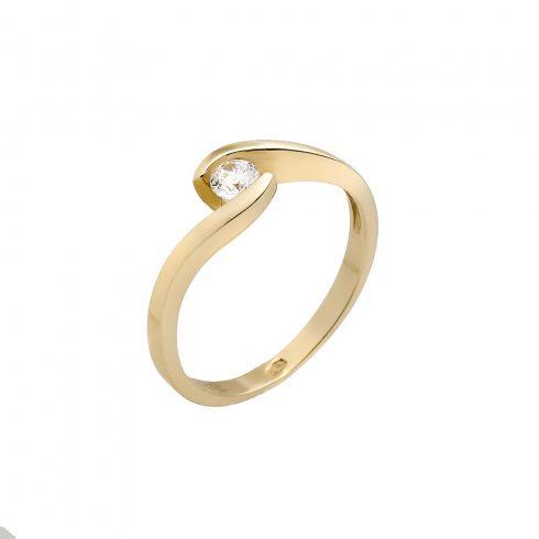 14K Arany Gyűrű (Au5890) Méret: 55