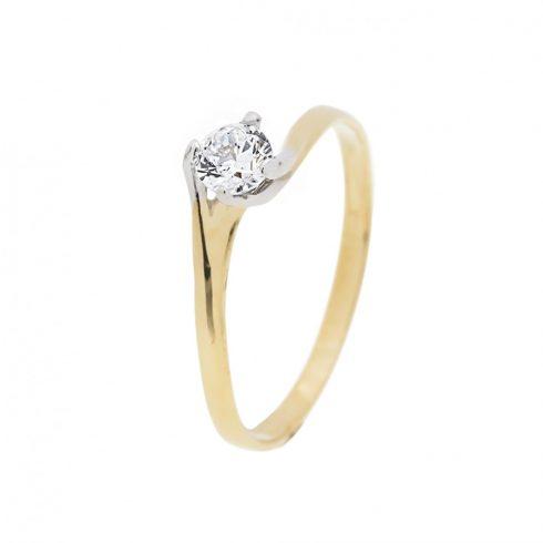 14K Arany Gyűrű (Au59332) Méret: 55,5