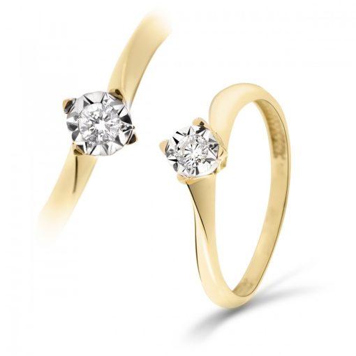 Arany Gyűrű BRILLEL (Au59720) Méret: 54