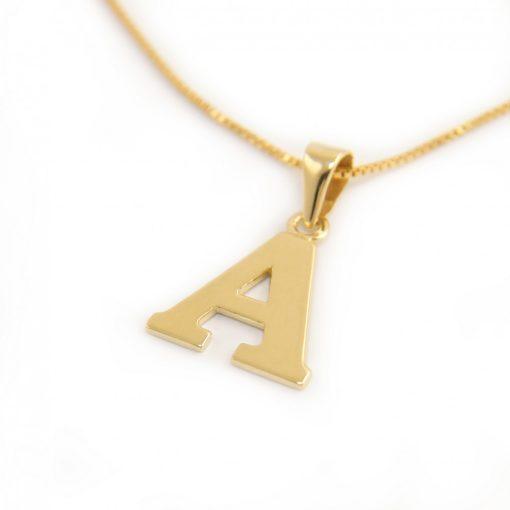 Arany A-betűs medál (Au601002)