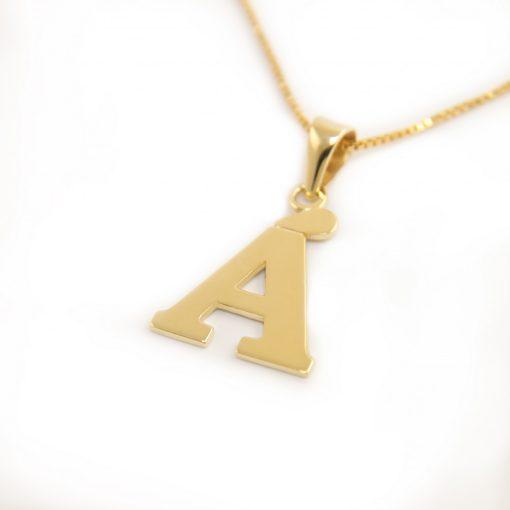 Arany Á-betűs medál (Au601004)