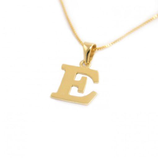Arany E-betűs medál (Au601009)