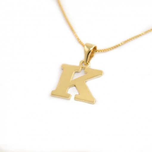Arany K-betűs medál (Au601015)