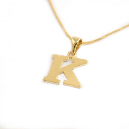 Arany K-betűs medál (Au601016)