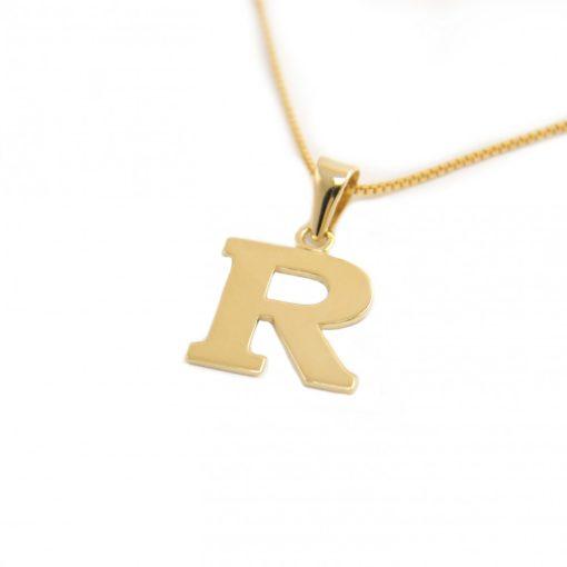 Arany R-betűs medál (Au601028)