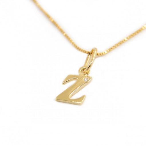 Arany Z-betűs medál (Au601036)