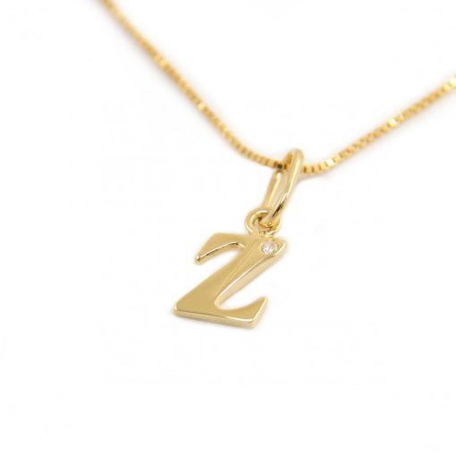 Arany Z-betűs medál (Au601037)